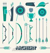 Vector Set: Archery Icons and Silhouettes