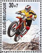 Motocross Stamp