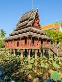 Ancient Thai Wooden Temple