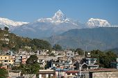 Pokhara With Machapuchare Mountain