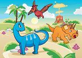 Cartoon dinosaurs