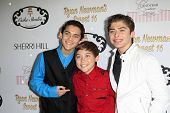 LOS ANGELES - APR 27:  Robert Ochoa, Raymond Ochoa, Ryan Ochoa at the Ryan Newman's Glitz and Glam S