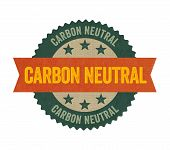 A Label with the text Carbon neutral
