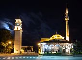 Clock Tower And Mosque
