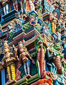 Detail of meenakshi temple in madurai india pic.