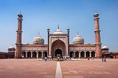 picture of masjid  - Jama Masjid is the principal mosque of Old Delhi in India - JPG