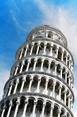 Detail Leaning Tower - Pisa - Tuscany - Italy