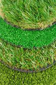 artificial astroturf grass samples