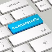 E-commerce Concept With Computer Keyboard