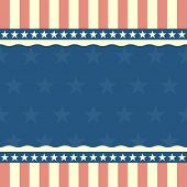 detailed illustration of a patriotic background with stars and stripes, eps 10 vector