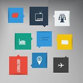 Vector flat UI design trend icons.