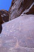Petroglyphs on Canyon Wall