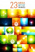Mega collection of warm shiny backgrounds. For nature concept, energy technology design, environmental presentations