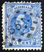 Postage Stamp Netherlands 1872 William Iii, King Of The Netherla
