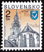 Postage Stamp Slovakia 1995 St. Emmeram's Cathedral, Nitra