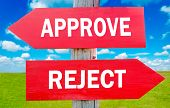 picture of rejection  - Approve and Reject way choice showing strategy change or dilemmas - JPG