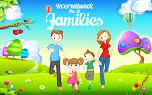 illustration of International day of Families concept