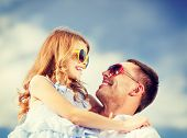 stock photo of father child  - summer holidays - JPG