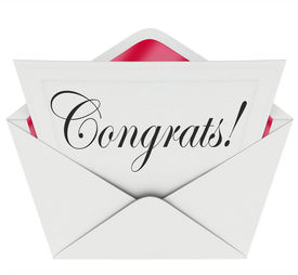 picture of applause  - Congrats Word Letter Card Note Congratulations Praise - JPG