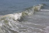 Ocean wave breaking onshore