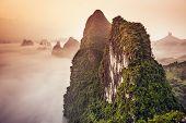 Karst Mountains of Xingping, China.