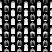 Garbage Icon Seamless Pattern