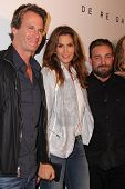 LOS ANGELES - OCT 23:  Rande Gerber, Cindy Crawford, Brian Bowen Smith at the Opening of Brian Bowen Smith's
