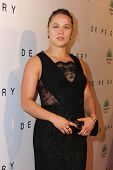 LOS ANGELES - OCT 23:  Ronda Rousey at the De Re Gallery & Casamigos Host The Opening Brian Bowen Smith's