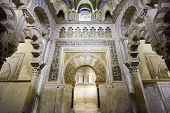 CORDOBA, SPAIN - CIRCA 2014: Mosque-Cathedral of Cordoba. The site underwent conversion from a church to a mosque and back again, with the current cathedral being built into the 10th century mosque.