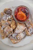 Kaiserschmarrn - German pancakes with plums
