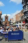 Pavement cafe, Chester.