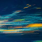 Colorful Abstract Lights Of  Blurred By Motion