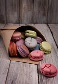 Delicate Colored Macaroon. Gorgeous Dessert.