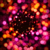 Abstract bokeh background with stars