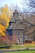 Old Wooden Church Autumn