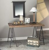 entry table in home with decor