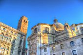 San Geremia Steeple And Dome In Venice, Italy