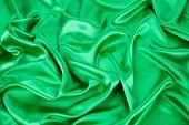 Texture of Green silk background.