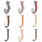 Various Combination Fishnet Letter J.