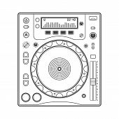 Outline dj cd player