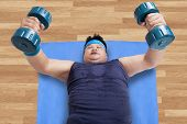 High Angle View Of Man Workout