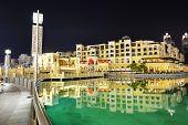 Dubai, Uae - September 9: Night View Down Town Of Dubai City, On September 9, 2013, Dubai, Uae. In T