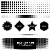 Abstract Halftone Design Elements
