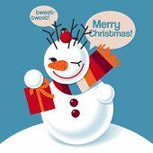 Vector illustration of a snowman