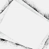 Ink blots frame shadow