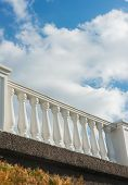 stock photo of bannister  - Architectural detail structure on the waterfront in Sevastopol. Crimea