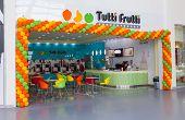 Samara, Russia - June 1, 2014: Tutti Frutti Frozen Yogurt Branch In A Shopping Center Ambar. Tutti F
