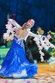 Minsk-belarus, October 18, 2014: Kirill Shvaibovich-kalickaya Evgeniya Perform Adult Standard Europe