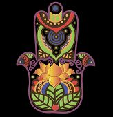 picture of hamsa  - Vector image can be changed at any size You can also change the background color - JPG