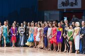 Minsk-belarus, October 18, 2014: Dance Couples Standing Prior To The Idsa World Open Championship 20
